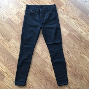 MOTHER High Waisted Looker Black Jeans Womens 29